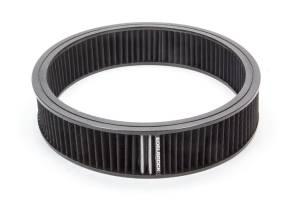 EDELBROCK #43668 Air Filter Element Black 14in x 3in