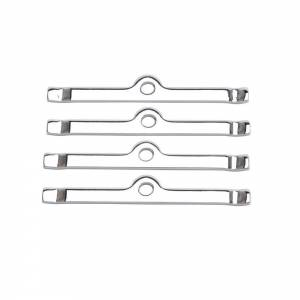 Chrome V/C Hold-Down Tabs - 4pcs.