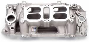 EDELBROCK #7520 BBC Performer RPM Dual Quad A/G Manifold - O/P