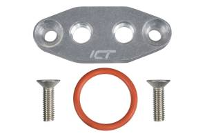 ICT BILLET #551666 LS Dual 1/8in NPT Oil Feed Plate LS1