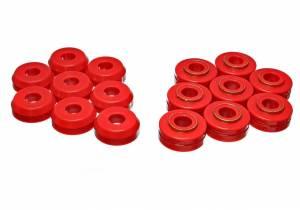 ENERGY SUSPENSION #4.4101R Bronco Body Mounts - Red