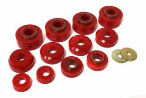 ENERGY SUSPENSION #4.4104R Ford Body Mounts - Red