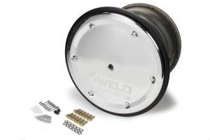 WELD RACING #559-5455BC-6 15 X 14 Wide 5 XL 5in BS Bead-Loc w/Black Cover