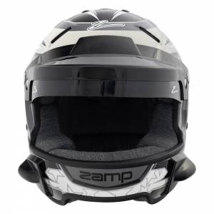 ZAMP #H760C01XL-WSP Helmet RZ-70E w/Speakers & Radio Mnt X-Lrg Bk/Gry* Special Deal Call 1-800-603-4359 For Best Price