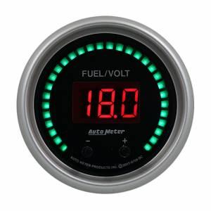 AUTO METER #6709-SC 2-1/16 Fuel/Volt Gauge Elite Digital SC Series