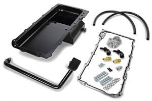 TRANS-DAPT #180 67-69 Camaro Black LS Swap Oil Pan/Filter Kit