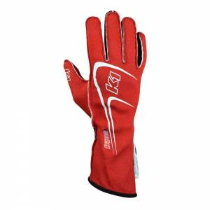 K1 RACEGEAR #23-TR1-R-4XS Glove Track 1 Red 4X- Small Youth