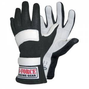 G-FORCE #4101XXLBK GF5 Racing Gloves XX- Large Black