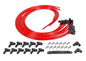 FUEL INJECTION ENTERPRISES LLC #SUPP90-R Spark Plug Wire Set 90deg Red Sprint Mag