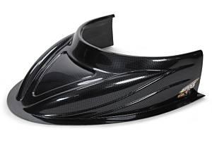 FIVESTAR #040-4113-CF MD3 Hood Scoop 5in Tall Flat Carbon Fiber Look