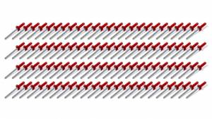 FIVESTAR #814R-100S Sml Hd Rivet Red Multi-Grip 100pk