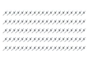 FIVESTAR #814W-100L Lrg Hd Rivet White Multi -grip 100pk