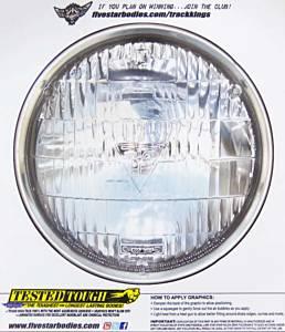 FIVESTAR #H00-410S Univer. Headlight Decal 6.00in Diameter