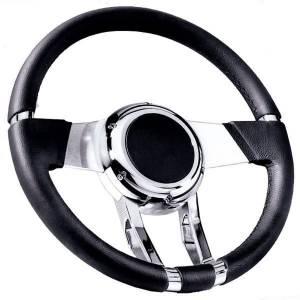 FLAMING RIVER #FR20150 WaterFall Steering Wheel Black