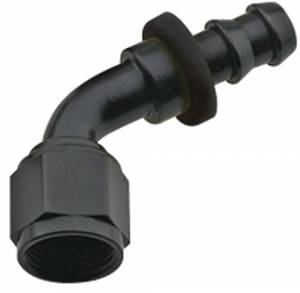 FRAGOLA #206012-BL Hose Fitting #12 60 Deg Push Lock Black