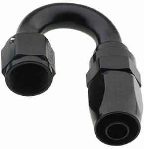 FRAGOLA #231806-BL Hose Fitting #6 180 Deg Pro-Flow Black