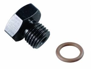 FRAGOLA #481404-BL #4 Port Plug 7/16-20 Black