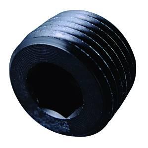 FRAGOLA #493203-BL 1/4 MPT Allen Pipe Plug Black