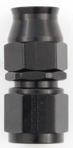 FRAGOLA #680106-BL Hose Fitting #6 Straight PTFE Black