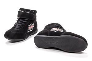 G-FORCE #0235075BK GF235 RaceGrip Mid-Top Shoes Black Size 7.5