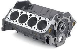 GM PERFORMANCE PARTS #12480157 Bowtie Block - SBC 350 4.125in Bore