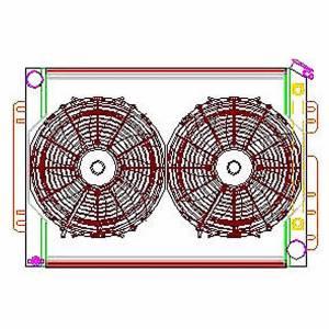 GRIFFIN #CU-70009 Radiator Combo Unit GM A & F Body