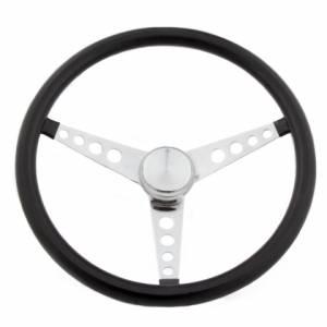 GRANT #277 Classic 15in Black Vinyl Wheel - Chrome 3-Spoke