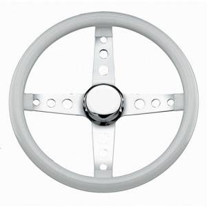 GRANT #571 Classic Steering Wheel White Vinyl