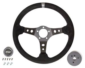 GRANT #694 Suede Racing Steering Wheel w/Center Marker