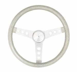 GRANT #8444 Steering Wheel Mtl Flake Silver /Spoke Chrm 13.5
