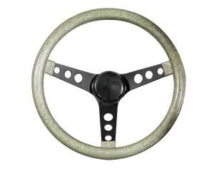 GRANT #8454 Steering Wheel Mtl Flake Silver /Spoke Blk 13.5