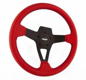 GRANT #8525 Edge Series Steering Wheel Red Vinyl