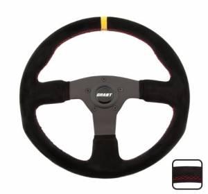 GRANT #8547 Suede Series Steering Wh eel 13.75 Dia. 1in Dish