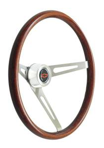 GT Performance #36-5459 Steering Wheel GT Retro Wood Dark Finish