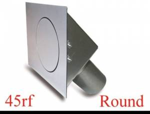HAGAN STREET ROD NECESSITIES #45RF Round Fuel Door  Flat Surfaces