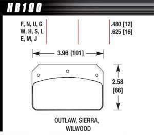HAWK BRAKE #HB100F.480 Dynalite / 2000 HPS
