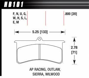 HAWK BRAKE #HB101N.800 Superlite/XL-HP Plus