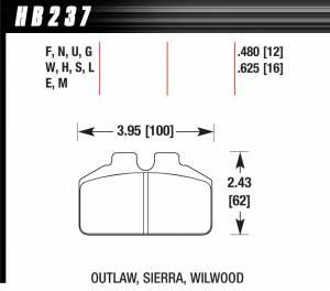 HAWK BRAKE #HB237M.625 DL Bridgebolt-Black