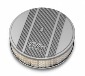 HOLLEY #120-158 14x3 Die Cast Finned Alm Air Cleaner  Raw
