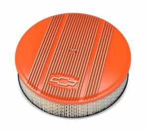 HOLLEY #120-168 14 x 3 Air Cleaner Finned Bowtie Orange