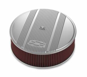 HOLLEY #120-175 14 x 4 Air Cleaner Finned Bowtie Polished
