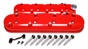 HOLLEY #241-113 GM LS Tall Valve Cover Set - Gloss Red