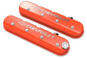 HOLLEY #241-403 LS Series Valve Covers w/Bowtie Chevrolet Logo