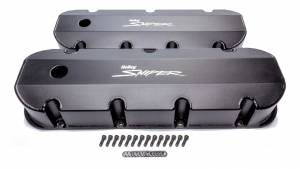 HOLLEY #890004B Sniper Fabricated Valve Covers  BBC Tall