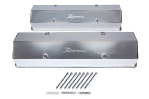 HOLLEY #890008 Sniper Fabricated Valve Covers  SBC Tall