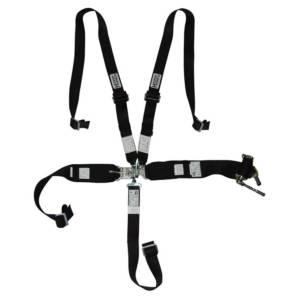 HOOKER HARNESS #53100 5-pt Harness System Hans LL USD Rachet Adj Blk