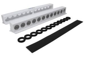 HEPFNER RACING PRODUCTS #HRP6350-WHT Torsion Bar Rack Holds 12 Sprint Bars White