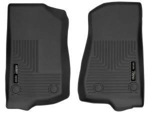 HUSKY LINERS #13021 18-  Jeep JL Front Floor Liner Black Weatherbeate