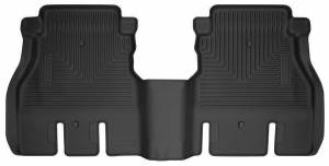 HUSKY LINERS #14041 18-  Jeep JL 2nd Seat Fl oor Liner Black Weatherb