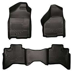 HUSKY LINERS #98031 02-08 Dodge Ram Floor Liners Black